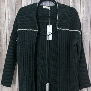 NWT UGG Black Riley Wool/Cashmere Cardigan XS/S